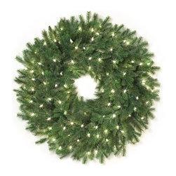 Cascade Fir Christmas Wreath - COMPLEMENT YOUR HOLIDAY DECOR WITH OUR CASCADE FIR CHRISTMAS WREATH