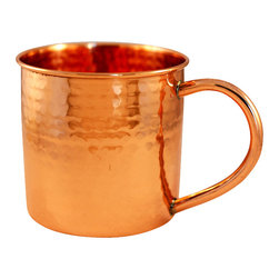 Custom Copper Mugs, LLC - Hammered Copper Mug, 16oz - Our Hammered Moscow Mule Mugs are constructed of 100% pure copper and hand hammered for a unique touch. We apply a food-safe lacquer  that resists tarnishing for lasting beauty and luster. The mug of choice when serving the infamous Moscow Mule--a cocktail made from a blend of vodka, ginger beer, and lime juice. The copper mug enhances the flavor and keeps the drink colder, longer.