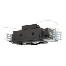 Jesco Lighting - Jesco MGP30-2SB 2-Light Double Gimbal Linear Recessed Line Voltage Fixture - Jesco MGP30-2SB 2-Light Double Gimbal Linear Recessed Line Voltage Fixture
