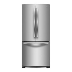 """Whirlpool - WRF560SMYM 30"""" French Door Refrigerator with 19.6 cu. ft.  SpillSaver Glass Shel - Keep groceries organized with this Whirlpool French door refrigerator that features Spillsaver glass shelves that contain messes for easy cleanup and a FreshFlow produce preserver to keep fruits and vegetables fresh"""