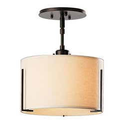 Exos Single Shade Semi-Flushmount Small