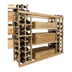Wine Cellar Innovations - Vintner 3 ft. Display Wine Case Rack (All-Heart Redwood - Light Stain) - Choose Wood Type and Stain: All-Heart Redwood - Light Stain. Bottle capacity: 84. Two individual wine display storage columns on both sides. Three open compartments in the center of the rack. Versatile wine racking. Custom and organized look. Can accommodate just about any ceiling height. 45.69 in. W x 13.5 in. D x 35.94 in. H (21 lbs.). Vintner collection. Made in USA. Warranty. Assembly Instructions. Rack should be attached to a wall to prevent wobble