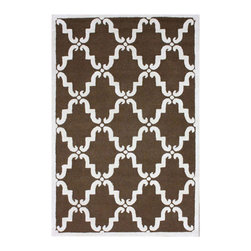 Nuloom - nuLOOM Handmade Luna Marrakesh Trellis Brown Wool Rug (3' x 5') - Inspired by the latest trends in Moroccan trellis patterns,these rugs will add a touch of classic to any decor. This rug is woven with 100-percent wool.