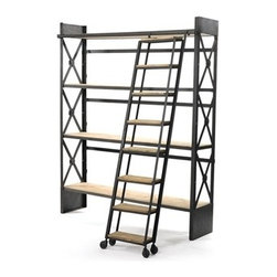 Go Home - Loft  Bookcase with Ladder - Loft Bookcase with ladder.