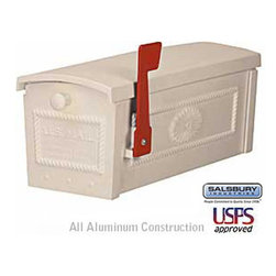 Salsbury Industries - Townhouse Mailbox - Post Style - Beige - Townhouse Mailbox - Post Style - Beige