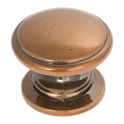 Hickory Hardware - Williamsburg Antique Rose Gold Cabinet Knob - Bridges contemporary and traditional design. Offering a deep rooted sense of history in some, with an updated feel and cleaner lines.