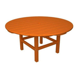 Home Decorators Collection - PolyWood® Round Conversation Table - Want the perfect look for your patio that will look perfect in any weather? The PolyWood® Round Conversation Table is crafted from high-density polyethylene, an exceptionally sturdy recycled plastic with infinite recycle-ability. In addition to resisting corrosive substances such as oil, fuels, insects, fungi, salt spray and other environmental stresses, its gorgeous Northeast Adirondack design will look great for your next outdoor get-together. Order yours today and enjoy environmentally friendly furniture you'll continue to love year after year. Requires no water proofing, painting, staining, or similar maintenance. Does not absorb moisture and therefore will not rot, splinter, or crack. Over 90% of its HDPE construction is made from post-consumer bottle waste. Complement your purchase with the entire PolyWood® Collection of recycled patio furniture. Multiple color options available.