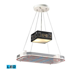 Elk Lighting - Elk Lighting 5138/2-LED Novelty Children's Pendant Light in Hockey - Elk Lighting 5138/2-LED Novelty Children's Pendant Light in Hockey