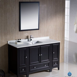 "Fresca - Fresca FVN20-123012ES Oxford 54"" Espresso Bathroom Vanity W/ 2 Side Cabinets - Fresca FVN20-123012ES Oxford 54"" Espresso Traditional Bathroom Vanity W/ 2 Side Cabinets"