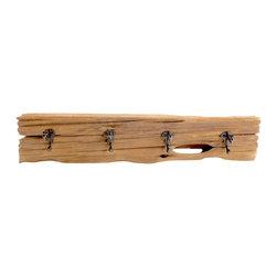 "Driftwood 4 Hook Rack - Dimensions: 22""W x 6""D x 5""H About Driftwood Decor"
