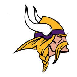 Brewster Home Fashions - NFL Minnesota Vikings Teammate Logo 3pc Wall Sticker Set - FEATURES: