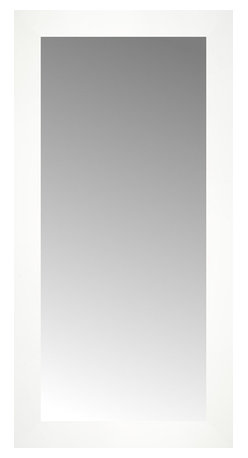 """Posters 2 Prints, LLC - 14"""" x 27"""" White Wide Cube Custom Framed Mirror - 14"""" x 27"""" Custom Framed Mirror made by Posters 2 Prints. Standard glass with unrivaled selection of crafted mirror frames.  Protected with category II safety backing to keep glass fragments together should the mirror be accidentally broken.  Safe arrival guaranteed.  Made in the United States of America"""