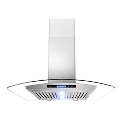 "AKDY - AKDY AG-Z198KZ2 Euro Stainless Steel Wall Mount Range Hood, 36"" - Keep your kitchen smelling fresh while you cook with this 36"" AKDY 198KZ2 convertible range hood that features a 760 cfm centrifugal blower with 3 fan speeds to effectively remove smoke, cooking vapors and odors from your cooktop area. Optional recirculating kits are available."