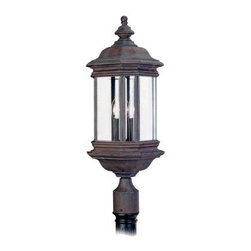 Sea Gull Lighting - Bronze Post Mount - This Post Mount has a Bronze Finish and is part of the Hill Gate Collection.