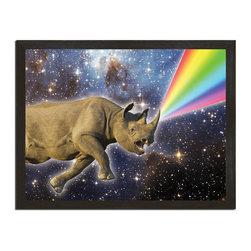 "Sharp Shirter - Rhinocorn Art Print - ""Printed on 18"" x 24"" cover stock paper. Rolled for shipment."""