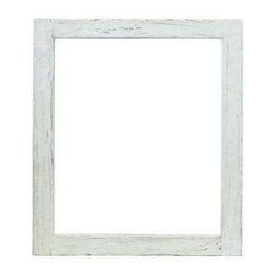 Native Trails - Native Trails Large Americana Mirror in Whitewash - *Crafted from recycled wood for exceptional strength