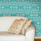 Medium Chloe Floral Trellis Wall Stencil - Create an indoor garden oasis with our flower trellis wall stencil from Royal Design Studio. Available in three varied sizes, the large and medium Chloe Floral Trellis wall stencil is also ideal for ceiling or floor applications. The small floral trellis is perfect for DIY crafts or furniture stenciling projects.
