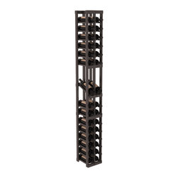 Wine Racks America - 2 Column Display Row Wine Cellar Kit in PIne, Black + Satin Finish - Make your best vintage the focal point of your wine cellar. High-reveal display rows create a more intimate setting for avid collectors wine cellars. Our wine cellar kits are constructed to industry-leading standards. You'll be satisfied. We guarantee it.