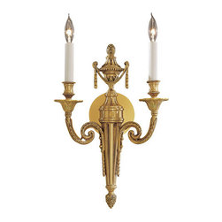 Metropolitan - Metropolitan N1789 Two Light Wall Sconce Vintage Collection - Renaissance Two Light Wall Sconce from the Vintage CollectionSince 1939, the Metropolitan� Lighting Fixture Co. has been proudly illuminating the finest interiors with antique reproduction lighting fixtures made from alabaster, brass, bronze, iron, wood and mouth blown Murano glass.  Although Metropolitan looks forward to the future with great anticipation, they are ever mindful of their heritage in the past.Features: