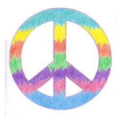 Boys room wall decor - Give peace a chance. Decal for your laptop or wall and removable.