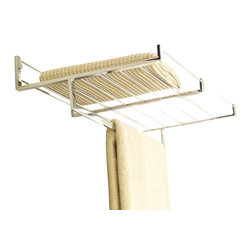 WS Bath Collections - Easy Living Towel Rack - Your bathroom — only better! That's what you get with this sleek rack. Made in Italy of chromed brass, it's designed to let you stack or hang your towels, and look great doing it.