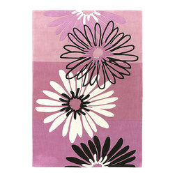 Surya - Luxe Hand Tufted Area Rug in Bright Pink, Flamingo Pink & Azalea Pink - Luxe Hand Tufted Area Rug in Bright Pink, Flamingo Pink & Azalea Pink is extremely durable because it's made of the same quality 100% Polyester. Polyester is a manufactured product, usually a textile, that is made from synthesized polymers. It is highly flammable, so care should be taken! Hand-tufted area rugs are much more affordable than hand knotted rugs.