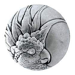 Tropical Collection by Notting Hill Decorative Hardware - Cockatoo Knob in Brilliant Pewter (left side)
