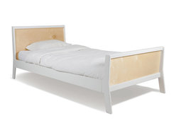 "Oeuf - Sparrow Bed, Twin Size, White, By Oeuf - Headboard reaches 32"", Footboard 22"". Fits a standard twin size mattress. Can hold up to 225 lbs. Can be paired with trundle (sold separately) for a guest bed or extra storage. Oeuf products meet or exceed all ASTM safety standards and are tested by Intertek Labtest to assure compliance. Oeuf is a member of JPMA."