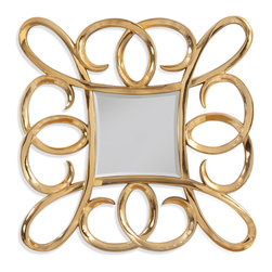 Bassett Mirror - Bassett Mirror Remarco Wall Mirror - Bountiful loops and swirls energize this otherwise traditional gold frame. This statement-making mirror is sure to catch many eyes in an entryway or hanging over your fireplace.
