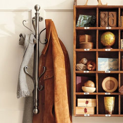 Wall-Mount Coat Rack - This wall-mount coat rack can store lots of things. I like the nickel color.