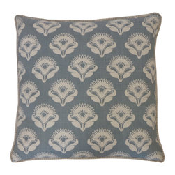 JITI - Poppy Blue Pillow - This classic floral throw pillow has a bit of an art deco feel, which makes it a lot of fun to mix and match into your eclectic space. The creamy blue contrasts with the soft poppy print, giving it a serene vibe that will inspire you to rest, reflect and take more than a few naps.