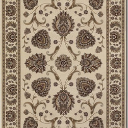 """Couristan - Everest 9'2"""" x 12'5"""" Rectangle Traditional - Everest Leila 6382-5990-Ivory 9.2x12.5"""