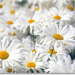 Picture-Tiles, LLC - Flower Picture Bathroom Tile Mural F292 - * MURAL SIZE: 24x32 inch tile mural using (12) 8x8 ceramic tiles-satin finish.