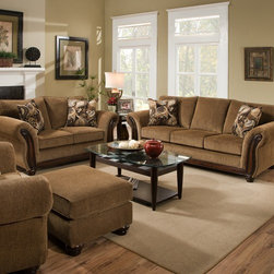 Simmons Upholstery - Troy Upholstery Queen Sleeper Sofa and Loveseat Set - 8102- - Set includes Queen Sleeper Sofa and Loveseat