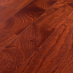 "Jasper - Jasper Engineered Hardwood - Sapeli Collection - [17.5 sq ft/box] - Natural / Sapele / Smooth / 5"" -  Known to resemble real Mahogany, Sapeli is often called African Mahogany for its rich color and fine, interlocked grain texture. This medium to dark reddish brown wood is brought to life on a smooth finish surface. It is also constructed with precision tongue & groove joint and can be installed by nail, staple, glue down or floating for a seamless installation.    The 7 coats of Treffert brand aluminum oxide allow for a smooth finish of this Standard grade flooring and is finished with microbeveled edges on all four sides.The durability paired with the natural and unique beauty of Sapeli flooring make the Jasper Sapeli Collection hard to resist. Combine that with a 25 year finish warranty and a lifetime structural warranty and your choice in Jasper Hardwood floors is a confident one."