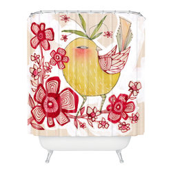 DENY Designs - Cori Dantini Sweetie Pie Shower Curtain - Who says bathrooms can't be fun? To get the most bang for your buck, start with an artistic, inventive shower curtain. We've got endless options that will really make your bathroom pop. Heck, your guests may start spending a little extra time in there because of it!