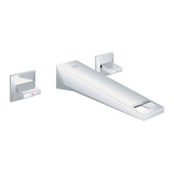 "GROHE - Grohe Allure Brilliant Wall Mount Vessel Trim - Starlight Chrome - Features 8 1/4"" Spout/Aerator Reach Solid Brass Construction Grip Handles Requires Vessel Rough-In Valve 33 885, sold separately Flow Rate 1.5 gpm (5.7 L/min) Code Compliance ASME/ANSI A112.18.1M ANSI/NSF Standard 61 CSA Standard B125.1-05 View Spec Sheet"