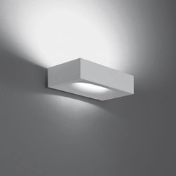 Artemide - Artemide | Melete Wall Sconce - Design by Pio & Tito Toso.By Artemide.The Melete Wall Sconce features a painted white die-cast aluminum painted structure for indirect and direct halogen lighting.
