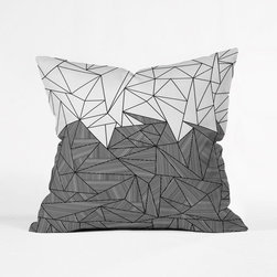 Bermuda Triangle Pillow Cover - You won't get lost with this bold pillow cover. It's an unforgettable sight, with two planes of design.