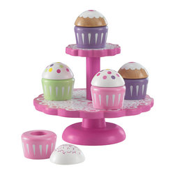KidKraft - New Cupcake Set, Two-tier by Kidkraft - Our Cupcake Stand with Cupcakes is a perfect kitchen accessory for any of the young chefs in your life. Kids will love putting the cupcakes on display for the whole world to see.
