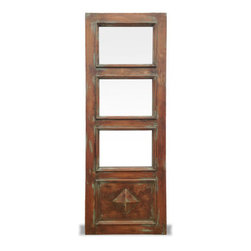 Edwards Natural Custom Door, Natural Antiqued Oak with Celeste Distressed - Edwards Natural Custom Door, Natural Antiqued Oak with Celeste Distressed