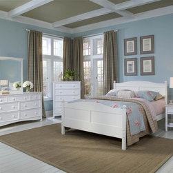Bolton Furniture - Cottage Queen Bed w 4 Pc Wakefield Collection in White - Includes Cottage queen headboard, footboard and side rails, Wakefield nightstand, drawer chest and dresser & mirror set. Bed:. Queen size bed. 64 in. L x 85 in. W x 47 in. H. Nightstand:. 1 Drawer. Beaded side panels. Classic framed drawer fronts. Dovetailed drawers and self-closing under mount glides. Made of solid birch hardwoods & veneers. 20 in. W x 19 in. D x 25 in. H. Drawer chest:. 5 Drawers. Solid frame construction built to last. 4 Sided dovetailed drawer box construction. Under mount self-closing drawer glides. Made of solid wood and veneers. 36 in. W x 19 in. D x 46 in. H (137 lbs.). Dresser:. 7 Drawers. Beaded side panels. Classic framed drawer fronts. Dovetailed drawers and self-closing under mount glides. Made of solid birch hardwoods & veneers. 60 in. W x 19 in. D x 34 in. H. Mirror:. Rectangular frame. Made of solid birch hardwoods & veneers. 32 in. W x 1 in. D x 40 in. H (32 lbs.). White finish. Assembly required. 1-Year warranty