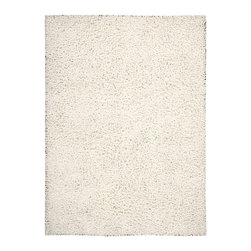 "Nourison - Nourison Zen ZEN01 3'6"" x 5'6"" White Area Rug 07868 - The shag is back and it's better than ever. With its striking white shade, eclectic vibe, plush pile and soft sheen, this hip yet cozy rug feels as fabulous as it looks."