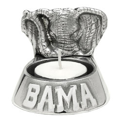 Arthur Court - Alabama Tea Light - Wash by hand with mild dish soap and dry immediately. Product not intended as cookware. Can withstand 350 F. Refrigerator and freezer safe. Includes one unscented tea light candle.