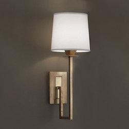 Norwell - Maya Aged Brass Single Light Wall Sconce - -Maya Aged Brass Single Light Wall Sconce Norwell - 9675-AG-WS