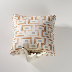 Homeware - Homeware Tangerine II Accent Pillows - Set of 2 Multicolor - HWP011-18-124TAN - Shop for Pillows from Hayneedle.com! We've heard your cry for geometric prints you can live with and we present Homeware Tangerine II Accent Pillows - Set of 2. In an obscure Byzantine-inspired print friendly grey and tangerine create an interesting yet approachable pair of pillows to enliven a space. They're the lipstick on a contemporary living space or a fresh accent to a mid-century modern style. Also try them in mixed company among eclectic pieces.Not available for sale in or delivery to the state of California.About HomewareHomeware is driven by an innovative spirit and a passion to change the way America buys and lives with furniture. Homeware wants to save you from shopping in a big box bringing home a smaller box and ultimately being psychologically harmed by your encounter with a slew of parts and incomprehensible assembly instructions. Instead of that Homeware supports your choice to shop in your jammies and Homeware is determined to support your success. Homeware chairs are made to live and move with you. They come to you in two pieces within two special boxes and regardless how rudimentary your handyman skills may be YOU can assemble them without tools. Within minutes they assure you you will be enjoying a chair that's as sturdy and solid as any you've beheld. The secret? It's designer and engineer Jon Koch's ingenious and revolutionary fastening device which makes possible speedy chair assembly by the mechanically uninitiated. Homeware keeps a stable of furniture savants on call 24-7 to answer your questions including but not limited to questions about their chairs and pillows and they stand behind their products with bravado.