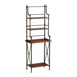Rustic Iron and Wood Bakers Rack - *Sydney Bakers Rack