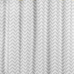 Sweet Jojo Designs - Zig Zag Yellow and Gray Shower Curtain by Sweet Jojo Designs - The Zig Zag Yellow and Gray Shower Curtain by Sweet Jojo Designs, along with the  bedding accessories.