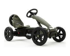 BERG - Jeep Adventure Pedal Kart - Pack some snacks and head for the woods on your very own Jeep Adventure pedal go-kart.