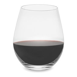 Stemless Pinot Noir Wineglasses, Set of 2 - Stemless wineglasses are a personal fave — just call me clumsy. So not only is this pinot noir glass practical, but its beautiful form and weighted bottom make it a pretty addition to your barware set.